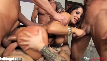 Evilangel Promiscuous Mummy Double Penetration And Facial Cumshot Gang-bang