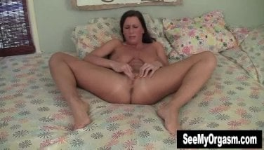 Huge-chested Virgin Wanking In The Bedroom
