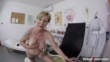 Huge-titted Granny Gets Point Of View Drilled By Her Doctor